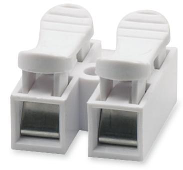 Led阻燃两位接线柱2p CH-2自锁按压式快速接线端子 优质