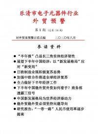 乐清市电子元器件行业外贸预警第八期